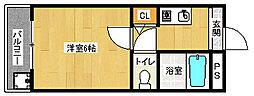 京都府京都市北区北野西白梅町の賃貸マンションの間取り