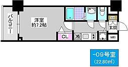 アドバンス大阪ソルテ[2階]の間取り