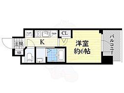 Osaka Metro御堂筋線 西中島南方駅 徒歩11分の賃貸マンション 6階1Kの間取り
