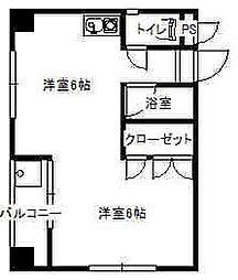 ジョグtutumi[4階]の間取り