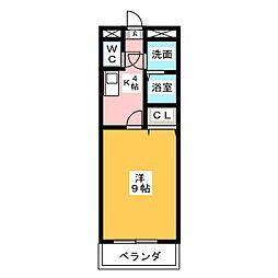 フィオーレ関田[1階]の間取り