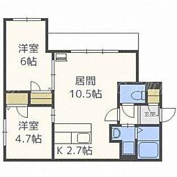 アレグリア1115[2階]の間取り