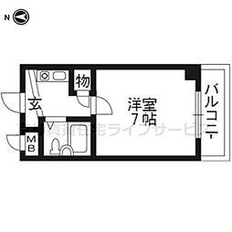 未麗 西京極[3階]の間取り