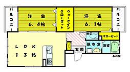 ソーラー櫻坂[3階]の間取り
