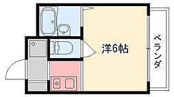 六番館[301号室]の間取り
