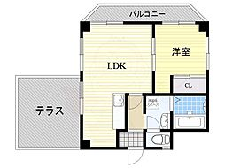 Osaka Metro御堂筋線 江坂駅 徒歩6分の賃貸マンション 2階1LDKの間取り