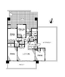 ナイスシティアリーナ横濱新子安[6階]の間取り