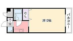 フラットライフワーク甲子園[301号室]の間取り