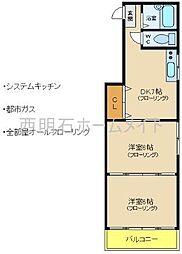 ハイツヒロ[3階]の間取り