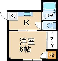 大阪府枚方市南中振2丁目の賃貸マンションの間取り