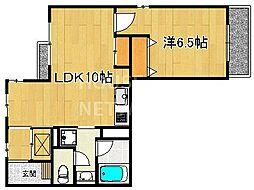第二下堤谷口マンション[101号室号室]の間取り