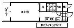 シティハウス祇園[400号室]の間取り