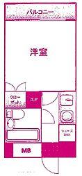 ライフゾーン梶ヶ谷3[2階]の間取り