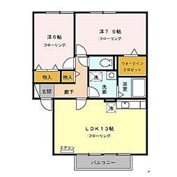 花花弐番館[2階]の間取り