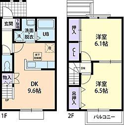 Pr Ank I[2階]の間取り