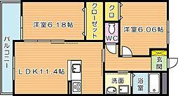 浜町テラス[1階]の間取り