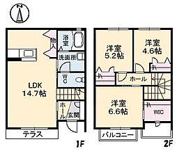 [テラスハウス] 愛媛県松山市土居田町 の賃貸【/】の間取り