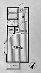 第一フラッツ横浜[207号室]の間取り