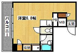 ボヌール永山[3階]の間取り