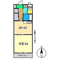 コーポ大倉5[1階]の間取り
