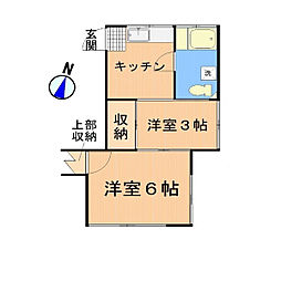 大信荘[102号室]の間取り