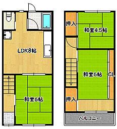 [一戸建] 兵庫県神戸市兵庫区小松通3丁目 の賃貸【/】の間取り