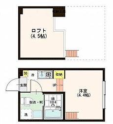 東京都足立区千住東2丁目の賃貸アパートの間取り