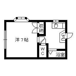 コーポ千寿[203号室]の間取り