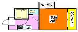 北島ハイツ 205号室[2階]の間取り