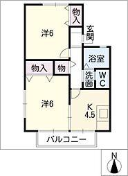 エスタシオン海津[2階]の間取り