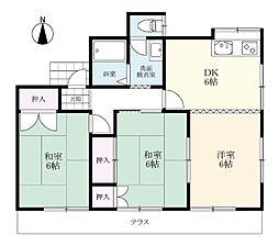 東新庄アパート[1階号室]の間取り