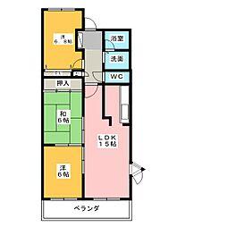 サンコート有松[3階]の間取り