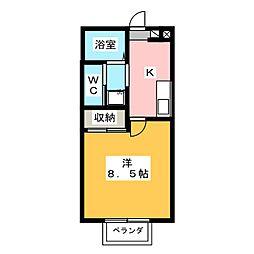 エステイト82[1階]の間取り