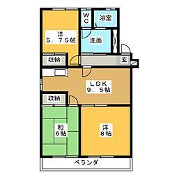浜野マンション2[2階]の間取り