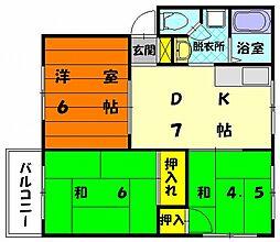 シーショアII[2階]の間取り