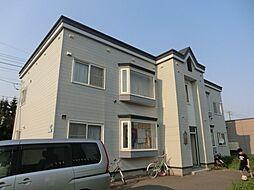 北海道札幌市北区あいの里四条3丁目の賃貸アパートの外観