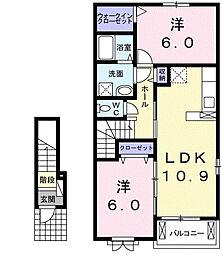 フェアリー II[2階]の間取り