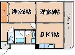 広島県安芸郡府中町浜田本町の賃貸マンションの間取り