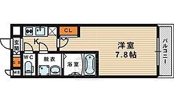 おおさか東線 JR野江駅 徒歩2分の賃貸マンション 9階1Kの間取り