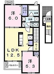 木戸新築アパート[2階]の間取り
