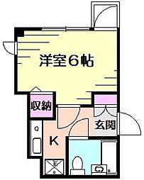 ティアラコート[2階]の間取り