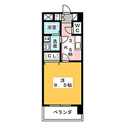 サンハイム桜山[3階]の間取り