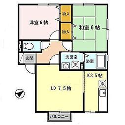 ラフィネ築地[2階]の間取り