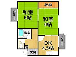 第一ハイツタカオ[4階]の間取り