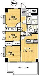 ラナイタウンルネッサンス ハイライズアネックス[7階]の間取り