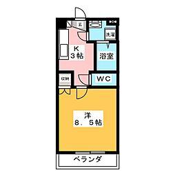 三重県伊賀市平野西町の賃貸マンションの間取り