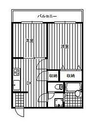 埼玉県戸田市美女木4丁目の賃貸マンションの間取り