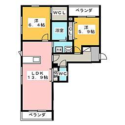 Maison La Paisible[1階]の間取り