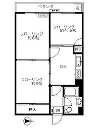 ライオンズマンション三宿[109号室]の間取り