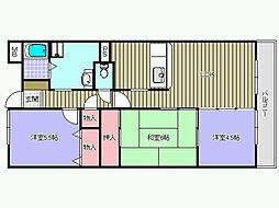 グリーングラス久米田[405号室]の間取り
